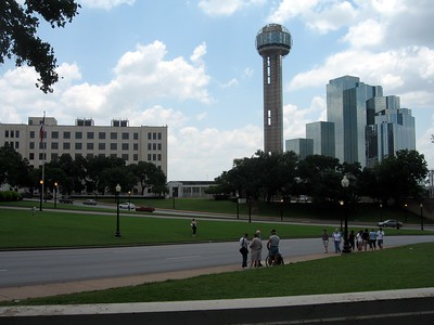View of Dealey Plaza from the Grassy Knoll