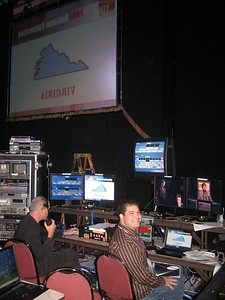 Craig at the controls during Virginia's vote for president.