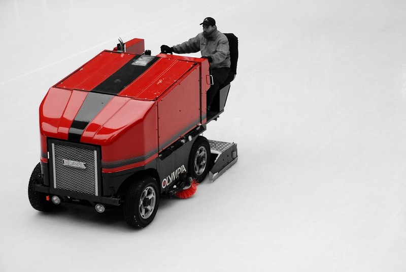 Zamboni in Red