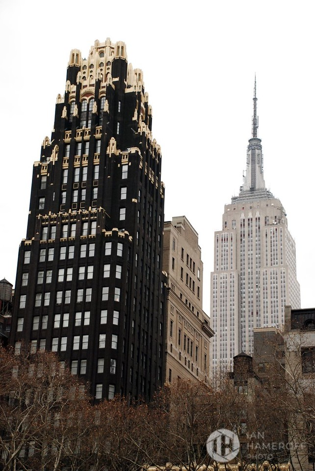 A View from Bryant Park on an Overcast Day