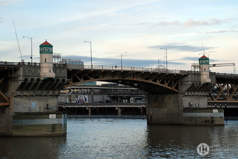 Burnside Bridge at Dusk