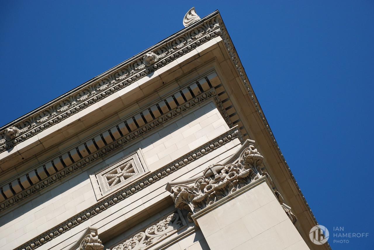 Building Corner Under Blue Sky