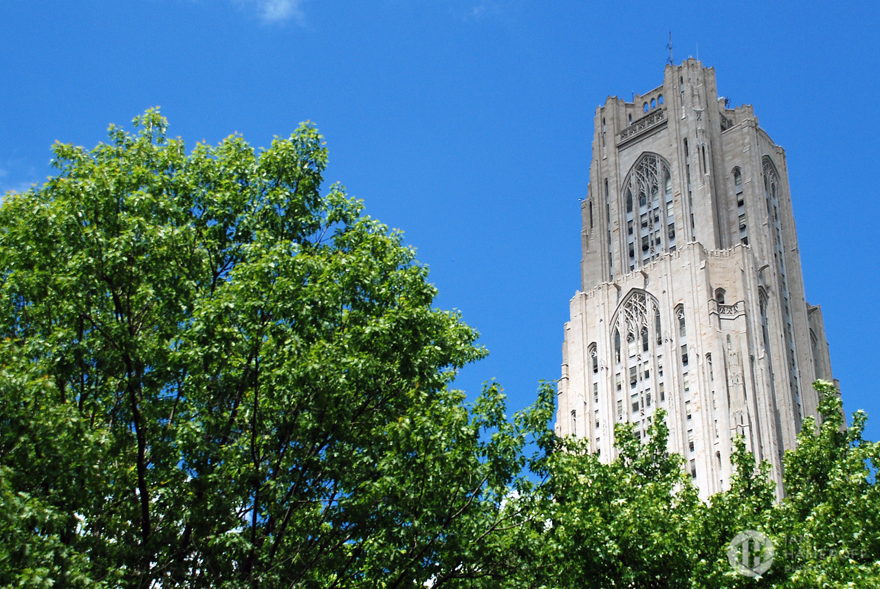 Cathedral of Learning in Blue