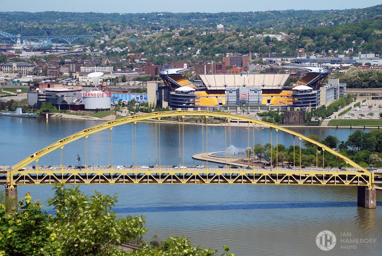 Fort Pitt Bridge and Heniz Field from Mt. Washington