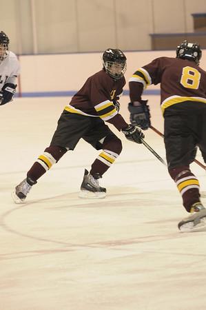 varsity ice hockey action