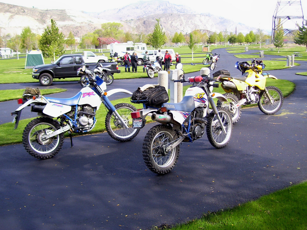 We had mostly 350cc and 400cc Dual Sport bikes with two KLR 650s and a DR 650.