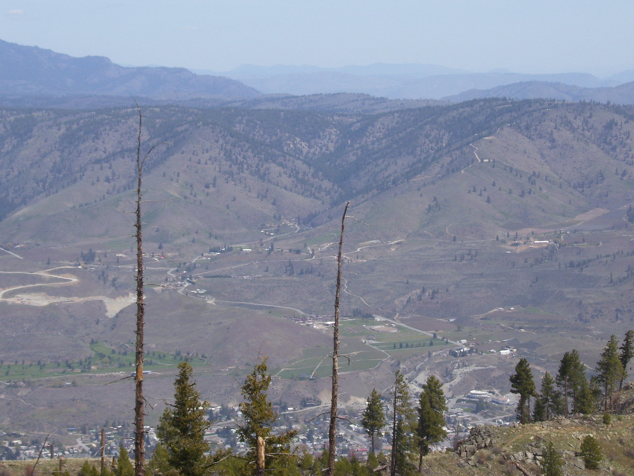 The city of Chelan is directly below and Tim's 20 acre spread is in the draw at the center of the picture.