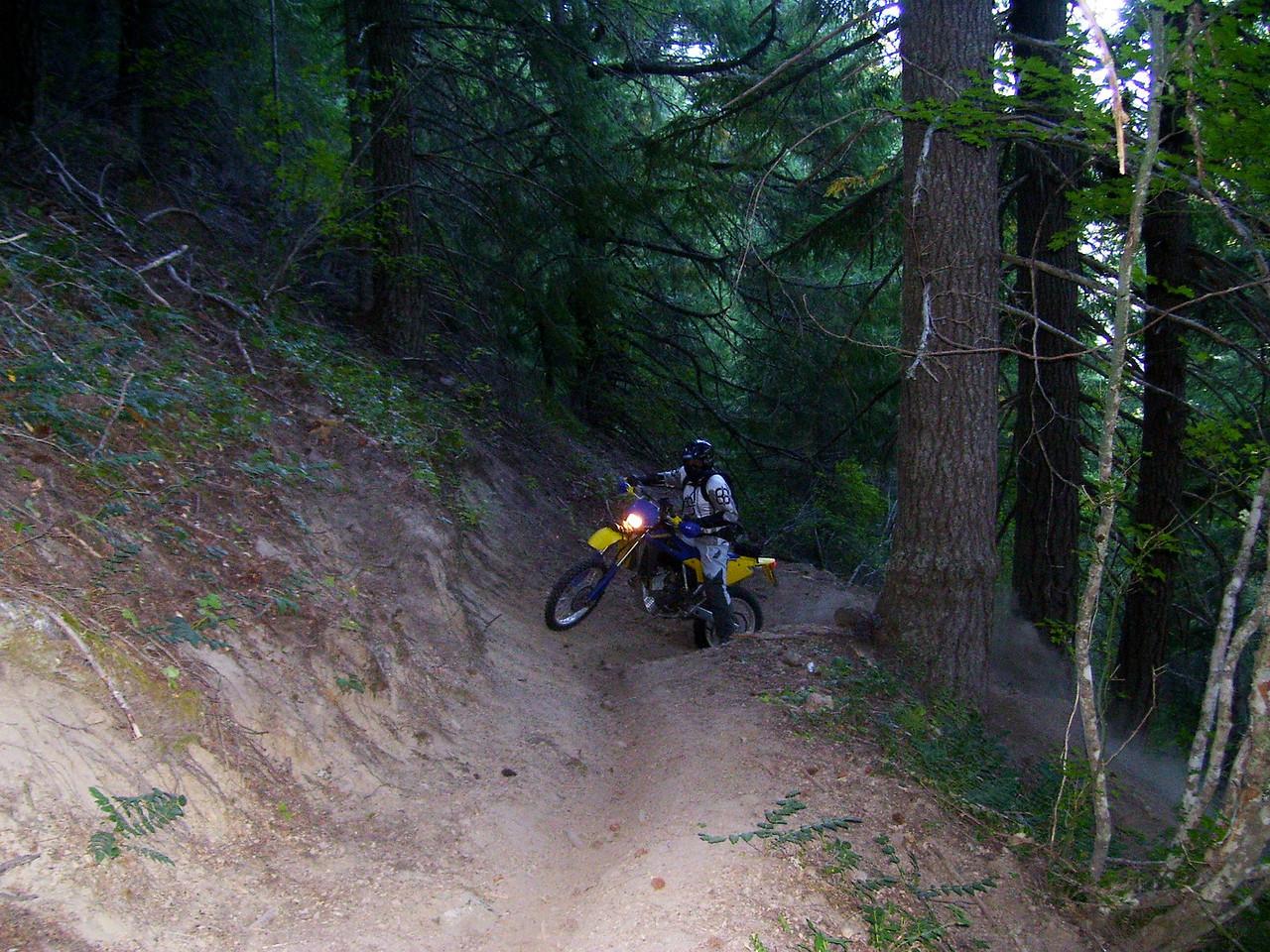 Thursday morning & Mark on the 110 trail