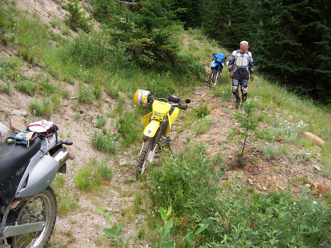 1A tests our riding skills as it almost disappears. Lots of rocks and old waterbars.