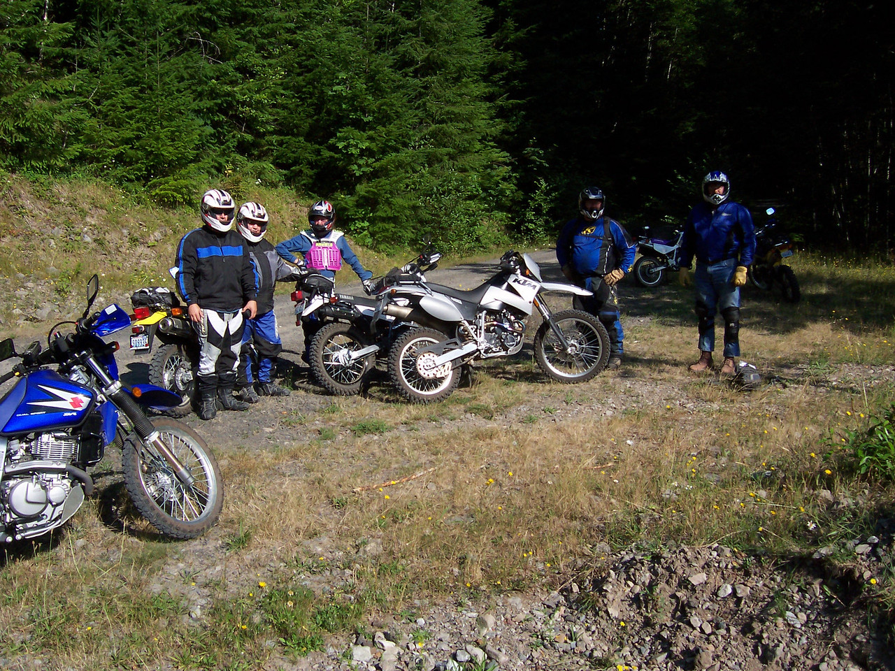 Saturday we did a Dual Sport ride.