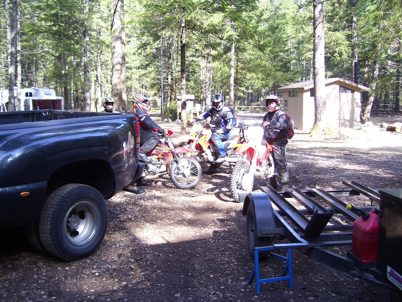 Dr. Dan on his new CRF 250X. The little Honda is becoming our groups most popular bike.