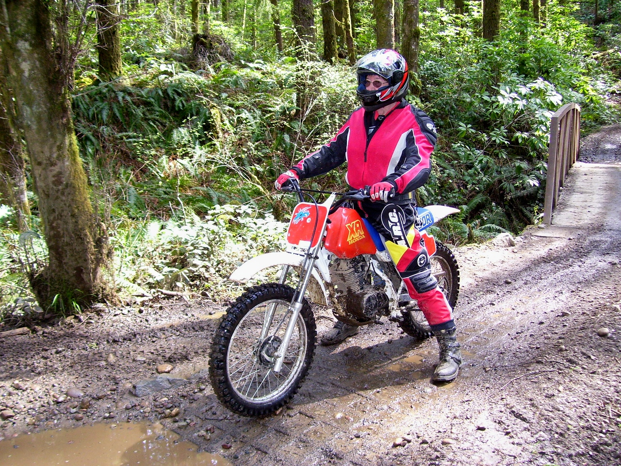 SuperSyl is getting a 2006 CRF 150F to replace her XR 100. But this little bike will stay in the family. At least 4 or 5 friends and relatives have learned to ride motorcycles on this bike.