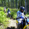 On the H2O trail, in order on the trail, Mark C., Kelley, Bill, Marty, and bring up the rear Sylvia.