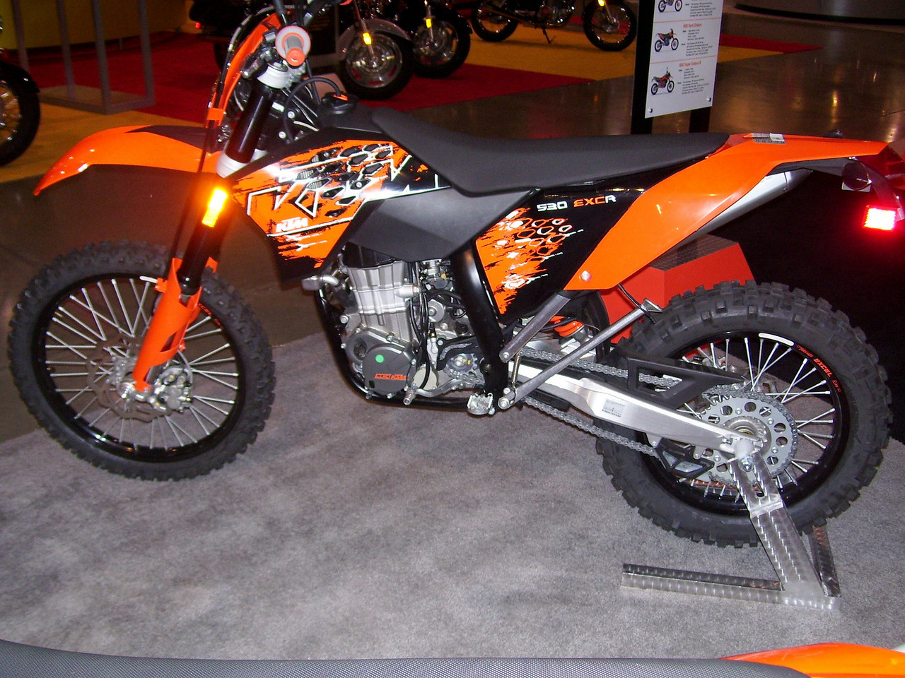 This is what I would buy if I were looking for a new trail DS bike. I didn't see anything even close to this KTM 530EXC. For a street legal trail machine, this is it guys. A bit spendy however.