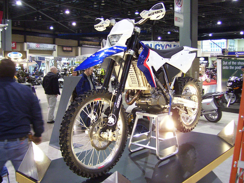 BMW's new 450 dirt bike. Made to compete with the Katooms I think.