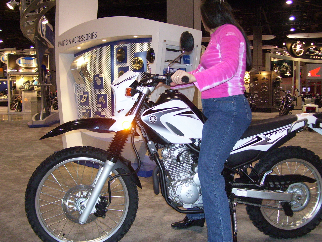This is about it for short legs. The Yamaha XT250 is new this year but quite simular to the old XT 225. They added a disk brake to the rear and looks like a plastic tank.
