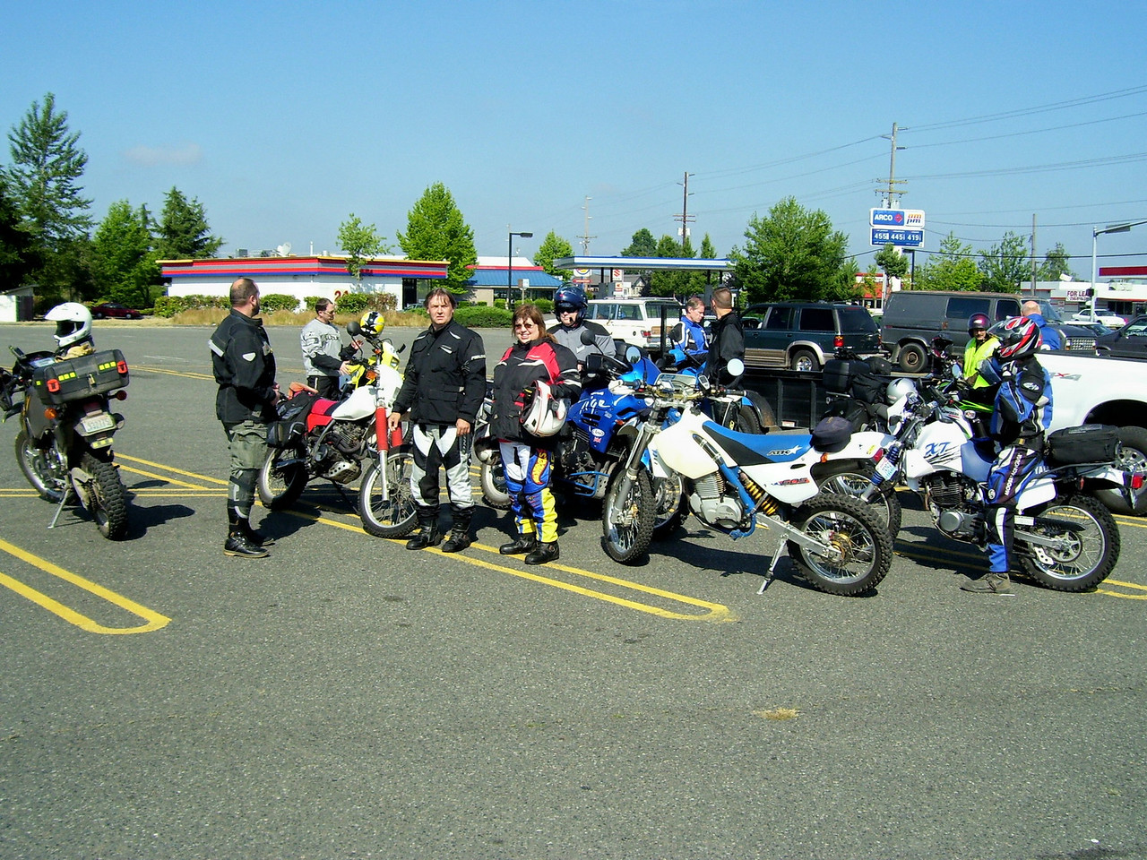 Our starting point Safeway Parking lot in Enumclaw.