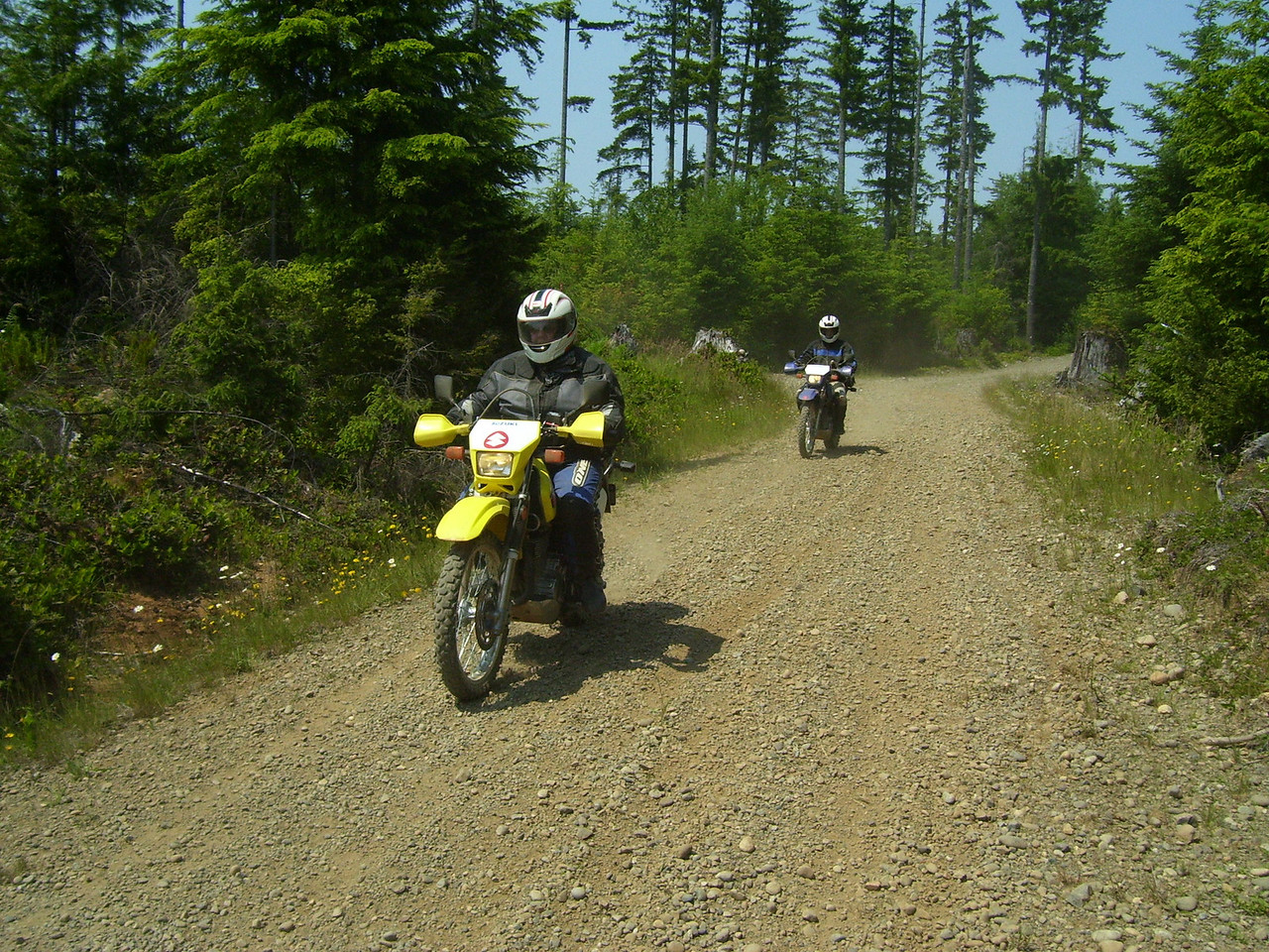 Cheryl and Marty on the long Southern portion of the ride.