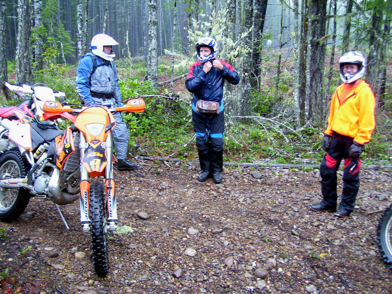 Wild Bill, Dano, & Jon on a rainny wet day.