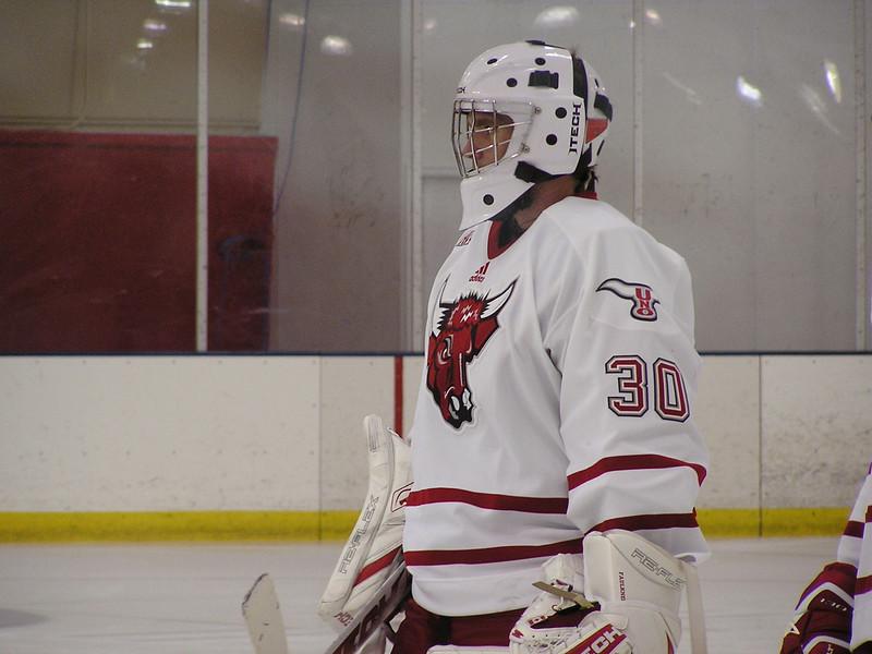 Freshmen goalie John Faulkner