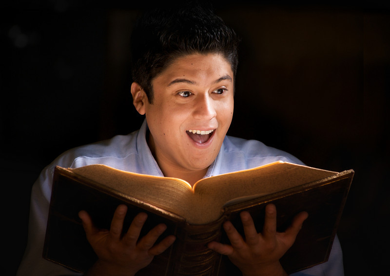 Ricky Araiza as Bastian Balthazar Bux in The Neverending Story. Photo credit: Heather Hill