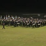 """Regiment performs 2008 show """"4Bidden"""" on September 26 after the Homecoming game vs. Winter Park."""