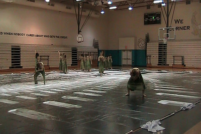 Guard Show during Practice at Corner Lake MS 2/6/09.