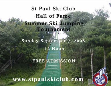 Hall of Fame Ski Jumping Tournament:  September 7, 2008