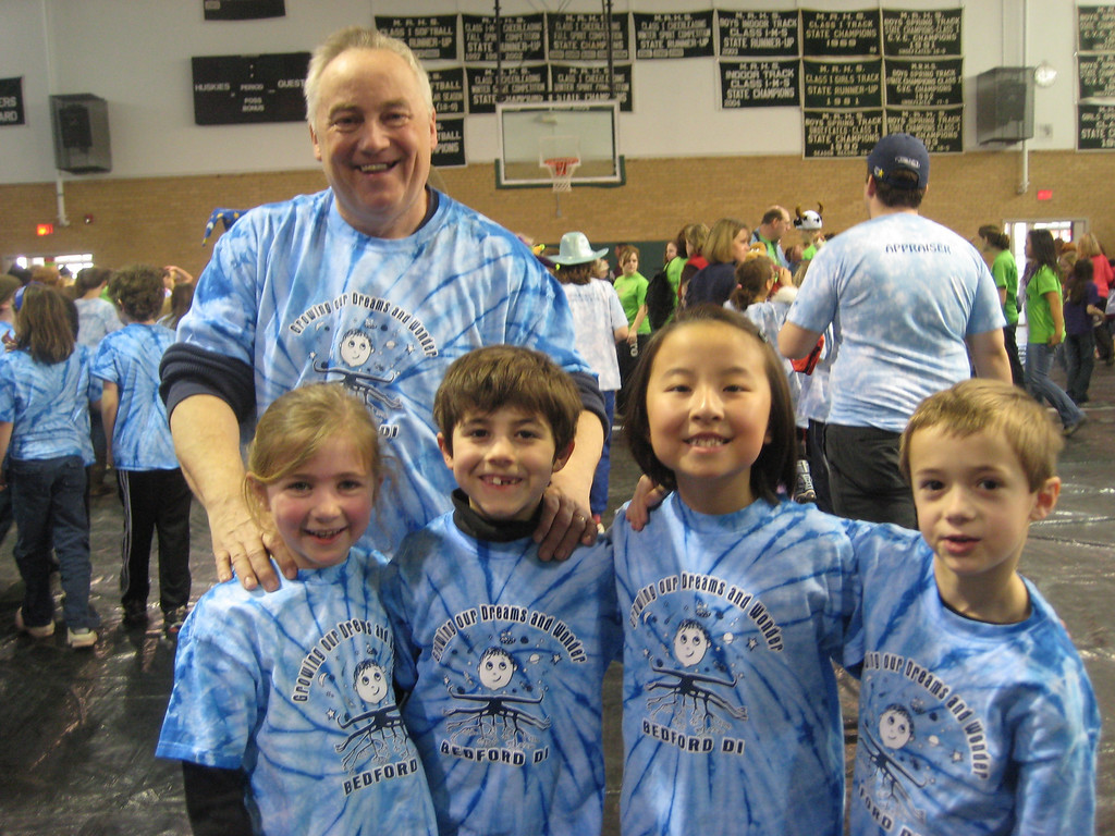 Team Wigout and school Principal Peter Woodbury School, Bedford Rising Stars At the Swanzey Regional Tournament