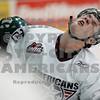 Americans Tyler Schmidt takes a hit