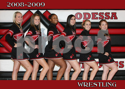 OHS Wrestling Cheer Team 5x7