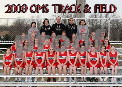 OMS 5x7 Girls Track Team