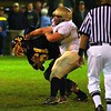 Friday Night Boxing? The Big Man lands a right hook (not really). Delone Catholic vs Littlestown, 10/17/2008.