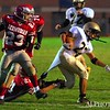 I don't think this is the way they taught tackling in practice. :-) Delone Catholic vs Bermudian Springs, 10/20/2008 (JV)