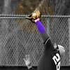 Ball hits the heel of 25's glove...