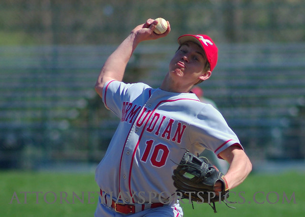 Jason Cline shows his form.  From Baseball 2009 04 18 Bermudian Springs 8 York Catholic 3