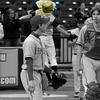 After #4 (Justin Keith) scores in a close play at the plate, Cody Smith chest bumps him so hard...
