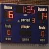 Halftime score.