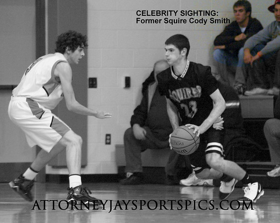 Cody Smith hit the three point buzzer beater exactly one year prior to this game enabling the Squires to beat the Nighthawks in 2008, 46-45.