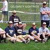 Part of the Delone Catholic Squires baseball team and coaches scout the game.
