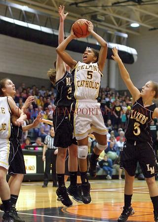 Sierra Moore. From Basketball 2010 03 19 Delone Catholic 39 Lancaster Mennonite 37