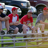 CELEBRITY SIGHTINGS! New Oxford Colonial Jackson Eargle, second from left, and Bermudian Springs Eagle Trevor Yinger on far right. Not sure of other two. Leave a comment if you know.