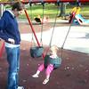 Mackenzie swings herself at 10 months part 2