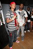 "NEW YORK - JULY 09:  Yung Berg and Ray J pose at Yung Berg's ""Look What You Made Me"" album listening party at Legacy Studios on July 9, 2008 in New York City.  (Photo by Steve Mack/S.D. Mack Pictures) *** Local Caption *** Yung Berg; Ray J"