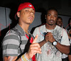 """NEW YORK - JULY 9: Yung Berg and Ray J pose at Yung Berg's """"Look What You Made Me"""" album listening party at Legacy Studios on July 9, 2008 in New York City. (Photo by Steve Mack/S.D. Mack Pictures) *** Local Caption *** Yung Berg; Ray J"""