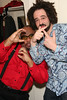 """NEW YORK - MARCH 15: ***EXCLUSIVE***  Cast member Stew (L) poses with Founder and Lead Singer for the band Counting Crows Adam Duritz (R) as he visits The Cast of """"Passing Strange"""" at The Belasco Theater on March 15, 2008 in New York City.  (Photo by Steve Mack/S.D. Mack Pictures) *** Local Caption *** Stew;Adam Duritz"""