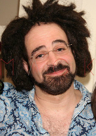 """***EXCLUSIVE*** NEW YORK - MARCH 15: Founder and Lead Singer for the band Counting Crows Adam Duritz Visits The Cast of """"Passing Strange"""" at The Belasco Theater in New York City."""