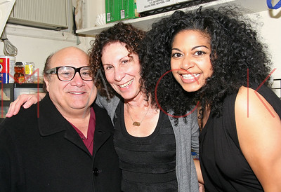 ***EXCLUSIVE*** - NEW YORK - MARCH 7: Danny Devito & Rhea Pearlman Visit The Cast of Passing Strange at The Belasco Theater on March 7, 2008 in New York City.