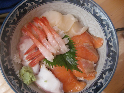Tony's mess - shrimp, salmon, white tuna, octupus