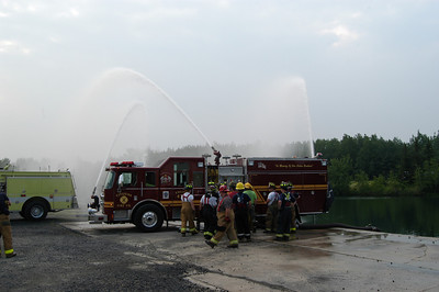 PUMP OPERATIONS at SCHUYLKILL COUNTY FIRE SCHOOL w/ MIKE KITSOCK and JOHN FOWLER 6-14-08